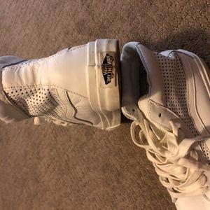 Vans leather mid womens sneaker
